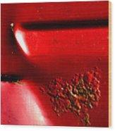 Red Gash Wood Print