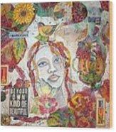Red Girl 27 Wood Print