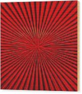 Red Glass Abstract 1 Wood Print