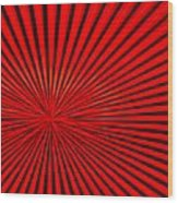 Red Glass Abstract 3 Wood Print