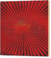 Red Glass Abstract 4 Wood Print