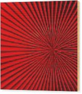 Red Glass Abstract 5 Wood Print