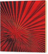 Red Glass Abstract 6 Wood Print