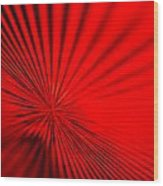 Red Glass Abstract 7 Wood Print