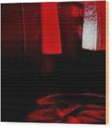 Red Glass Wood Print