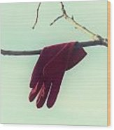 Red Glove Wood Print
