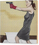 Red Gloves Wood Print