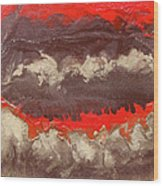 Red Gold And Brown Abstract Wood Print