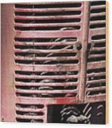 Red Grill Wood Print