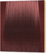 Red Hair Perfect Straight Wood Print
