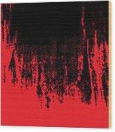 Red Halftone 1 Wood Print
