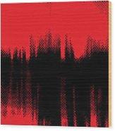 Red Halftone 2 Wood Print