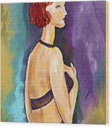 Red Headed Woman Wood Print