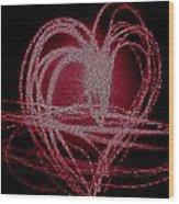 Red Heart Wood Print by Aya Murrells