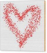 Red Heart Wood Print