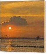 Red Hook Sunset 4 Wood Print