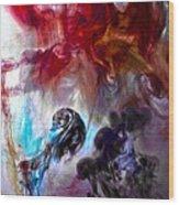 Red Horseman Wood Print by Petros Yiannakas