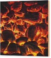 Red Hot 2 Wood Print