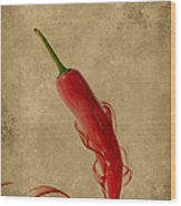 Red Hot Chili Pepper Poster  Wood Print