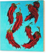Red Hot Chili Peppers Wood Print