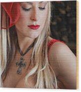 Red Hot Wood Print by Evelina Kremsdorf