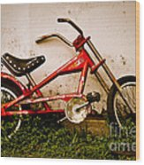 Red Hot Stingray Bike Wood Print by Sonja Quintero