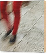 Red Hot Walking Wood Print