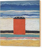 Red House, 1932 Oil On Canvas Wood Print