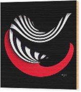 Red II Wood Print