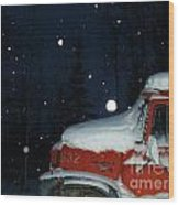 Red International Singing Those Deep Winter Blues  Wood Print