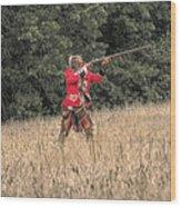 Red Jacket Wood Print
