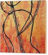 Red Jazz 3 Wood Print