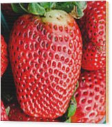 Red Juicy Delicious California Strawberry Wood Print