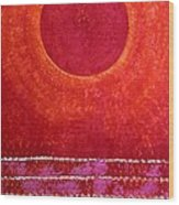 Red Kachina Original Painting Wood Print