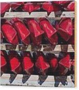 Red Kayaks Wood Print
