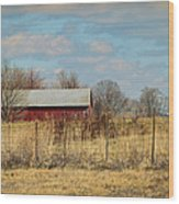 Red Kentucky Relic Wood Print