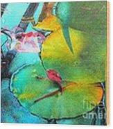 Red Leaf Wood Print by Robert Hooper