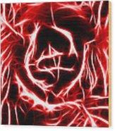 Red Lettuce Wood Print