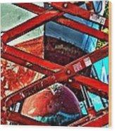 Red Lift Wood Print