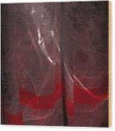 Red Line Wood Print