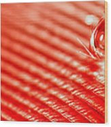 Red Lined Wood Print