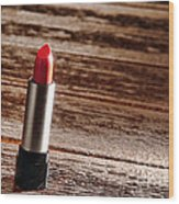 Red Lipstick Wood Print
