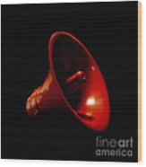 Red Megaphone Wood Print