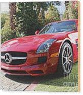 Red Mercedes Benz Wood Print