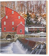 Red Mill Clinton New Jersey Wood Print