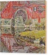 Red Mill II Wood Print