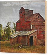 Red Mill Montana Wood Print