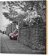 Red Mini Cooper- The Debut Wood Print
