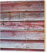 Red Mold Siding Wood Print
