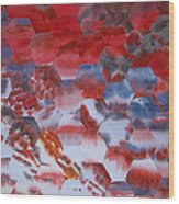 Red Morning With Two Ducks Wood Print